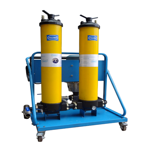 Portable oil filling/filter cart