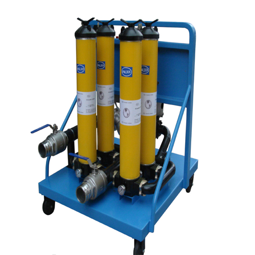 Multifunction oil filling/filter cart